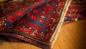 variety of ancient oriental carpets