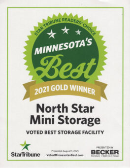 Nominated for and won The Star Tribune's 2021 Gold Winner for Best Storage facility